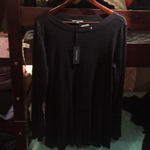 Black bell sleeve sweater